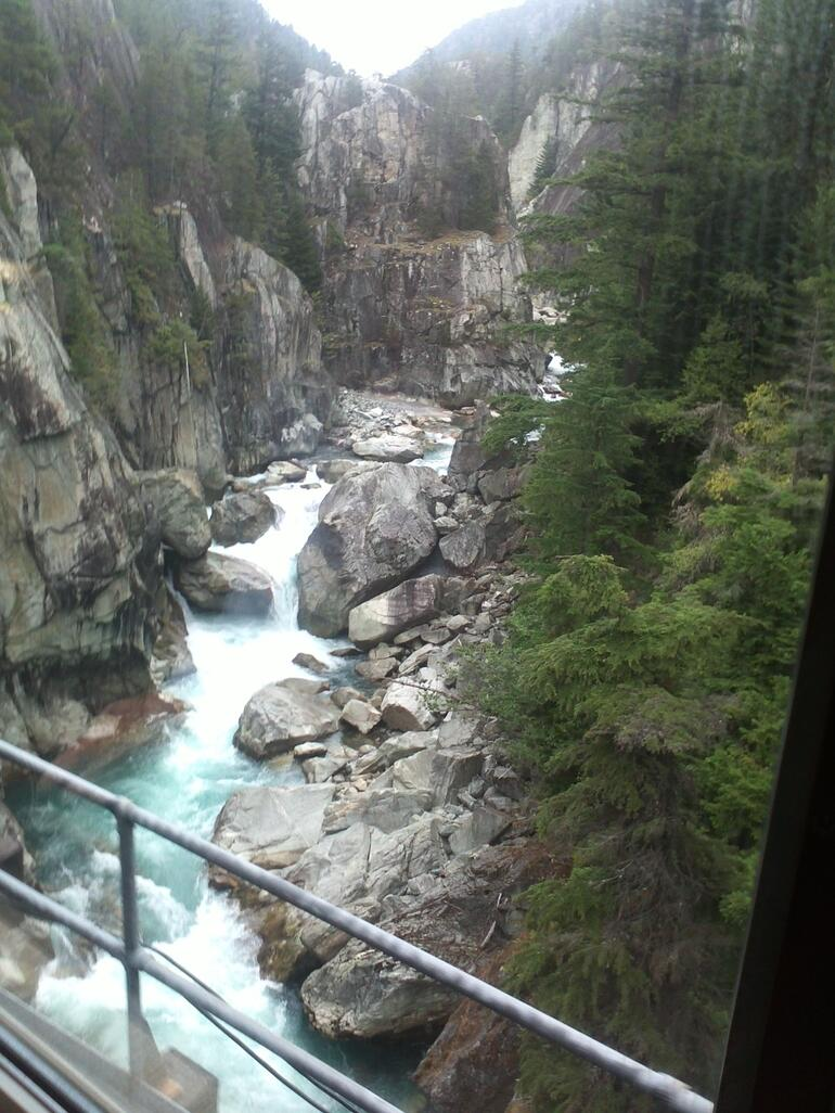 Open car on train ride to Whistler - Vancouver