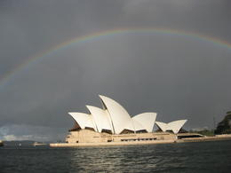 Photo of Sydney Sydney Harbour Tall Ship Twilight Dinner Cruise opera house and rainbow