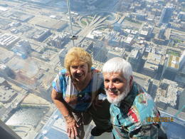 Pete and Marg on the glass floor. , Peter C - October 2014