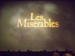 Photo of London Les Miserables Theater Show Screen Pic
