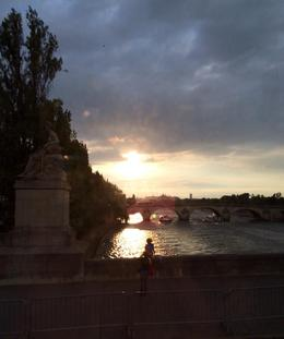 Photo of Paris Eiffel Tower, Seine River Cruise and Paris Illuminations Night Tour Sunset in Paris from Bus Tour