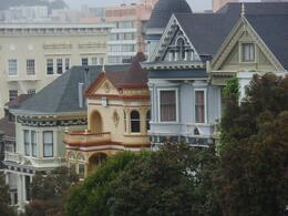 Photo of San Francisco Alcatraz and San Francisco City Tour victorian houses