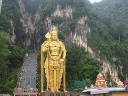 Batu Caves: Coming down is more difficult than going up, but the view over the city is worth the effort - July 2011