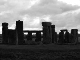 Photo of London Stonehenge, Windsor Castle, Bath, and Medieval Village of Lacock Including Traditional Pub Lunch Black and white picture of Stonehenge