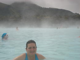 Me bathing in the Blue Lagoon, Iceland , Efi K - July 2014