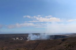 steam from the lava crater in the daytime, Michelle W - November 2015