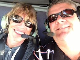 Rob and Denise in helicopter flying over the Grand Canyon had an amazing time ! , Rob - November 2012