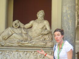 Our guide, Anna, explaining this statue to our group. , SHS619 - August 2012