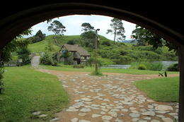 Photo of Auckland Small-Group Tour: The Lord of the Rings Hobbiton Movie Set Tour from Auckland Looking out of Green Dragon to the water wheel