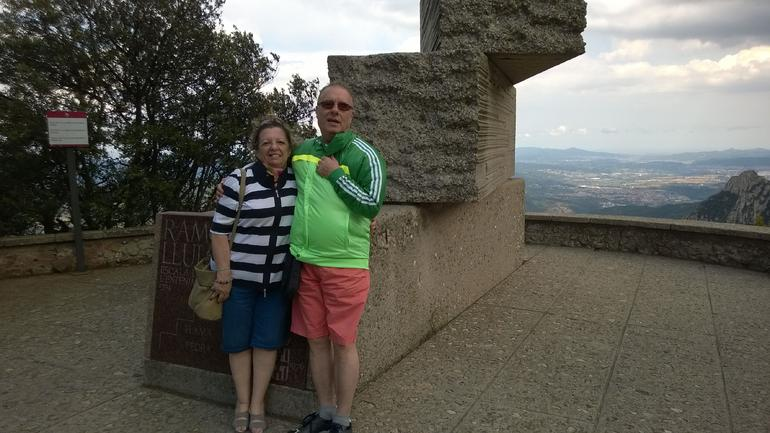 Montserrat at the top of the mountain... - Barcelona