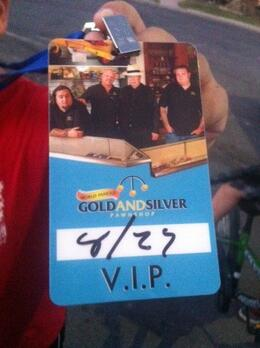 Our VIP Passes, Mel - September 2012