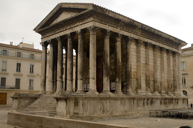 Roman temple in the city of Nimes, Provence - Avignon
