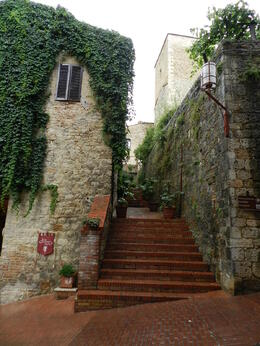 Even in a light rain it's a beautiful medieval city , Italy 2014 - July 2014