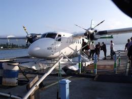 This was our seaplane being loaded up for the trip, Valerie P - July 2010