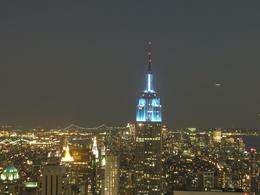 Empire State Building lit up in blue!!! - June 2010