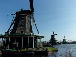 A few of the windmills working on the Kalverringdijk, at Zaanse Schans, on a perfect spring day, on a tour that was great fun! , Brenda A - April 2015