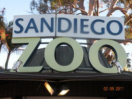 Photo of San Diego Go San Diego Card Zoo sign