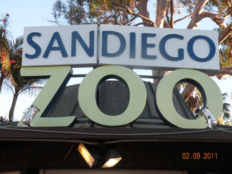 Zoo sign - San Diego