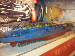 Model of the Japanese aircraft carrier Akagi. , Phillip M - February 2012