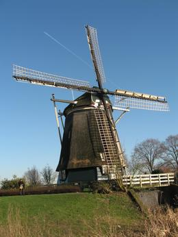 A windmill visited during the Amsterdam bus tour., Mike G - February 2008