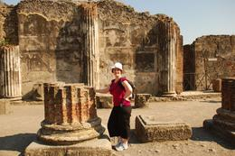 Photo of   Appreciating the size of columns at Apollo's temple