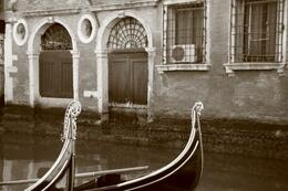 A pair of Gondolas on a quiet canal. , ROD C - March 2012