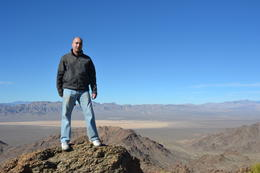 At the top looking down over Primm Valley. Stunning view , Colin V - January 2012
