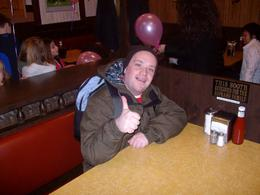 Sitting in the Sopranos booth from the final episode., Trevor D - February 2010