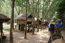 Khao Sok safari: These are the huts that the Mahuts (elephant trainers) live in, Barry R - November 2008
