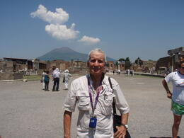 In the photo is Francisco and at the back the amazing Vesubio. Excelent tour. Thank you. , Francisco Suarez - July 2013