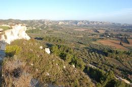Les Baux - Views over Countryside - March 2010