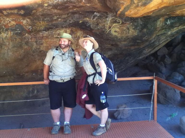 our guides paige and jamie - Ayers Rock
