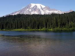 We stopped here on the way down from Paradise to get a reflection of Rainier. Unfortunately there were to may ripples in the lake to get a good reflection - but no matter - the photo ops were still ... , Kathy B - August 2009