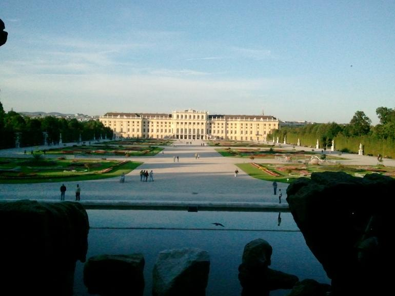 Schonbrunn Palace from the reflective pool. - Vienna