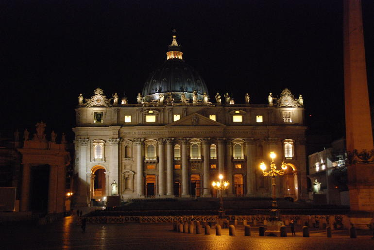 St. Peters Square at Night - Rome