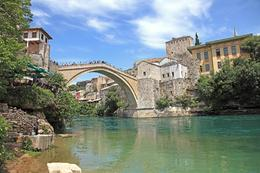 Beautiful blue/green water with Stari Most Bridge. , Curtis M - June 2013