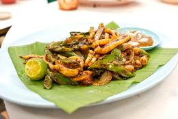 AND it's served on a banana leaf - July 2012