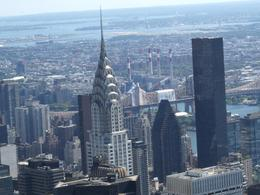 This was taken from the top of the Empire State Building. My opinion this (the Chrysler Building) is the most beautiful looking skyscraper, William John H - September 2008