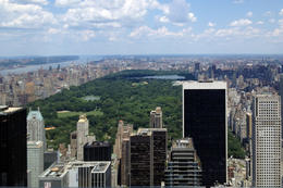 view of Central Park, Jules & Brock - July 2012