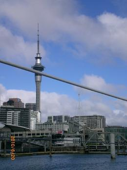 Photo of Auckland Auckland Harbour Coffee Cruise view of the Skytower as we were leaving port.