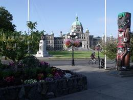 This is a general view of the buildings surrounding the inner harbour area of Victoria, Valerie P - July 2010