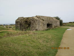 Photo of Bayeux Normandy Beaches Half-Day Trip from Bayeux At point Du Hoc. A German Gun emplacement