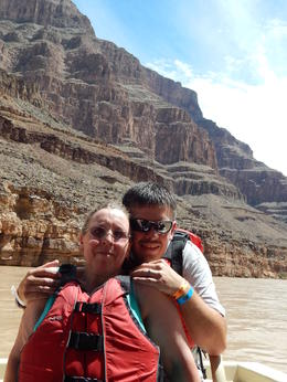 Photo of Las Vegas Grand Canyon West Rim Day Trip by Coach, Helicopter and Boat with Optional Skywalk Boat Trip
