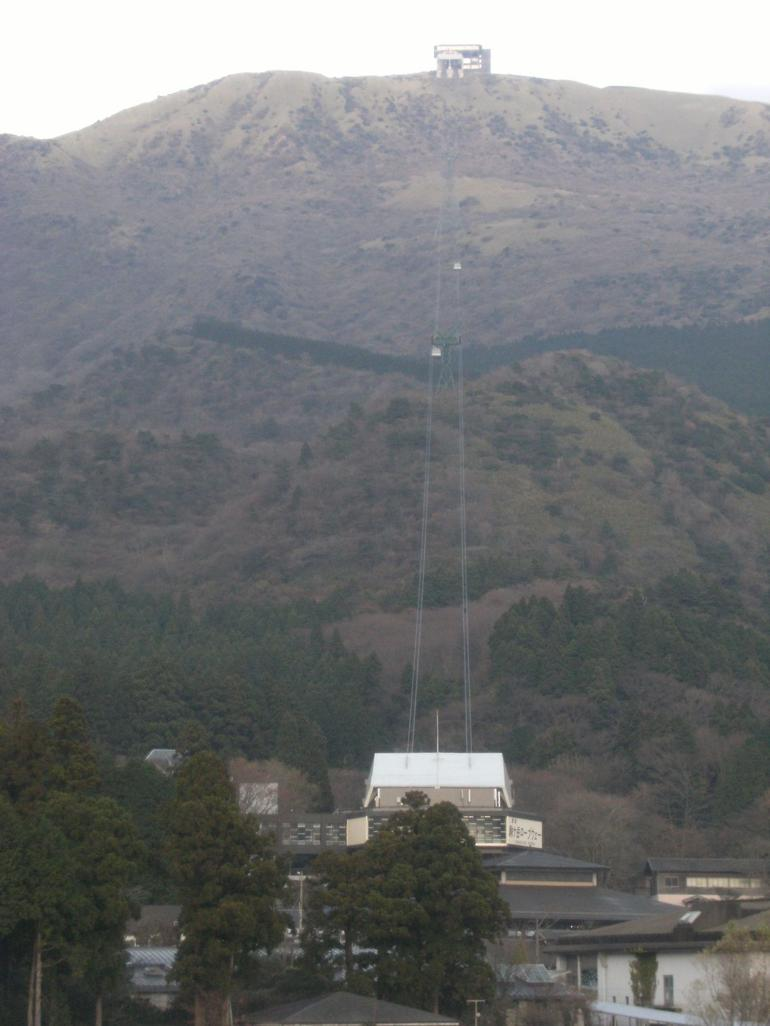 Cable car ride went to the top of this mountain. - Tokyo