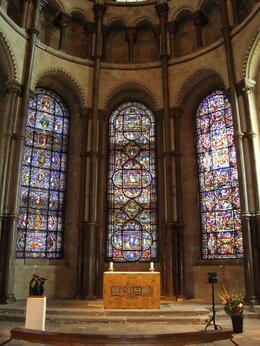 One of the many stained glass windows inside the cathedral. I think I took photos of all the stained glass there was! , Jessica - July 2011