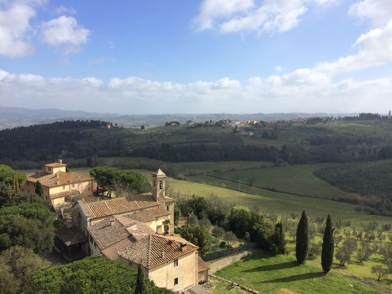 The view from atop the tower at Castello di Poppiano