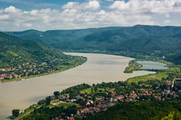 Danube Bend in Hungary, view from the Vishegrad castle - May 2011