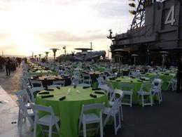 Photo of   Dinner on the flight Deck