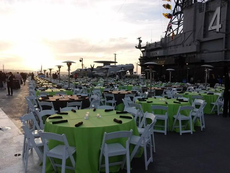 Dinner on the flight Deck - San Diego