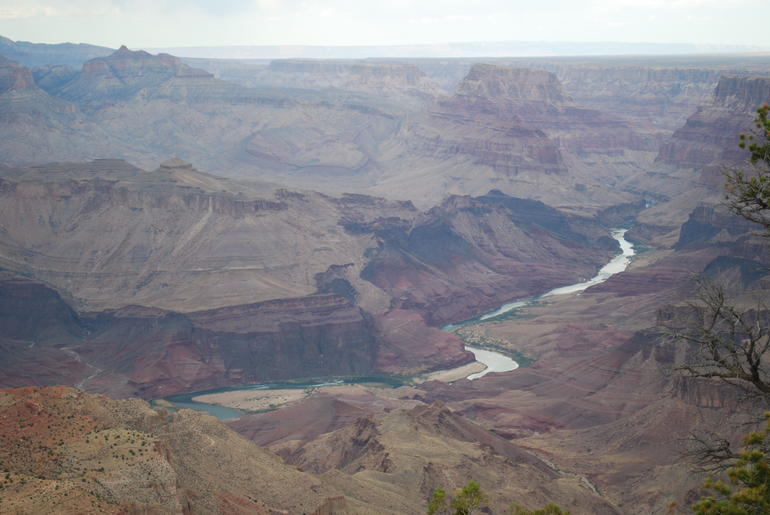 Picture of the Colorado River flowing through the Grand Canyon.